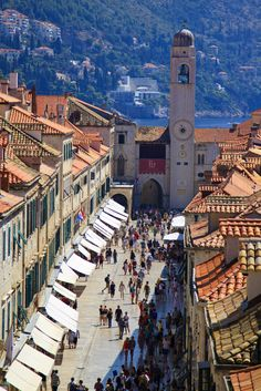 """old town in Dubrovnik, Croatia.Love Dubrovnik, Croatia and would go back in a """"heart beat""""! Places Around The World, Oh The Places You'll Go, Travel Around The World, Places To Travel, Places To Visit, Around The Worlds, Montenegro, Wonderful Places, Beautiful Places"""