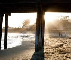 "Cayucos Beach, California. Named one of the ""Best Secret Beaches on Earth"" by Travel and Leisure Magazine."