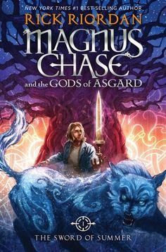 Cover Reveal: The Sword of Summer (Magnus Chase and the Gods of Asgard #1) by Rick Riordan -On sale October 6th 2015 by Disney Hyperion Books -Magnus Chase has always been a troubled kid. Since his mother's mysterious death, he's lived alone on the streets of Boston, surviving by his wits, keeping one step ahead of the police and the truant officers.