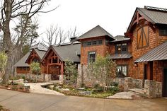 The home I would love to have one day love the layout and its got that rustic feel