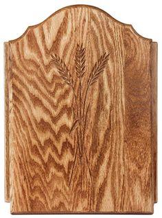 Amish Oak Wood Key Cabinet with Wheat Door