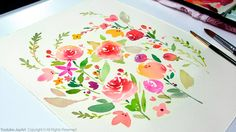 DIY Watercolor Painting for Beginners *Full HD YouTube Video Link Below https://youtu.be/6bsv0rzU7Dc
