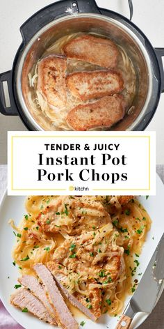 How To Make Tender and Juicy Instant Pot Pork Chops - Juicy Tender Instant Pot Pork Chops. Need recipes and ideas for healthy instant pot dinners that ar - Pork Chops Instant Pot Recipe, Best Instant Pot Recipe, Instant Pot Dinner Recipes, Instant Recipes, Boneless Pork Loin Chops, Juicy Pork Chops, Ranch Pork Chops, Pork Ribs, Crock Pot Pork Chops