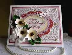 "Stampin up! Sizzix, Spellbinders Handmade ""Wedding card"" card  NEW #StampinupSpellbindersSizzix #WeddingDay"