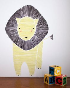 Leo Lion Wall Decal by Gingiber :: at Darling Clementine