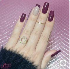Idea!!! Ricostruzione unghie smalto viola semipermanente gel ❤