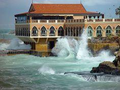 Cafe d'Orient in Beirut, Lebanon (by FlickrJunkie).
