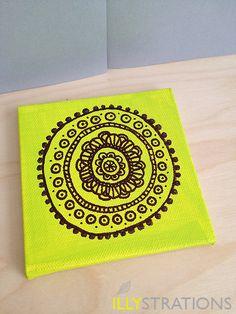 Circles Mini Canvas. $12.00, via Etsy.