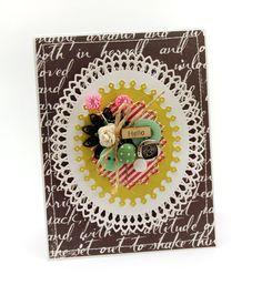 Julia Stainton: Belle Paperie (Pretty Paper): – Oval Bliss - 3/2/15.  (Spellbinders: Oval Bliss).  (Pin#1: Buttons.  Pin+: Dies: Spellbinders).