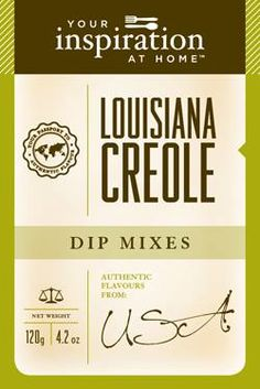 Louisiana Creole #yiah #dip  Spicy, hot and full of flavour! Great for Creole Cuisine including Jambalaya, Cajun BBQ and blackened dishes. Spice up a potato salad or mix with lime juice and prawns and grill on the BBQ! This dip mix has a real kick, so best to go easy with it until you become familiar with its hotness!