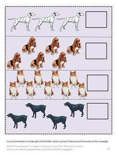 Man's Best Friend File Folder Games, P-K, K, Special Education, Autism-Loved by both children and adults, dogs become a member of the family. This is why we call them man's best friend. Students will love the graphics in this Man's Best Friend File Folder packet. It consists of 29 pages and makes 6 file folder games. This printable file folder games include:  1. Coloring Matching 2. Counting 3. Letter Matching 4. Making a Pattern 5. Sorting by Size 6. Shape Matching