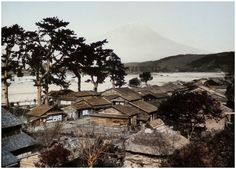 One of T. Enami's earliest photos of Mt. Fuji. He cataloged this circa 1891-95 image as No.316 – Fujiyama View from Iwabuchi. Text and image via Okinawa Soba on Flickr The Kimono Gallery