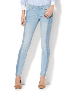 Shop Soho Jeans - Two-Tone Skinny - Blue Story Wash. Find your perfect size online at the best price at New York & Company.