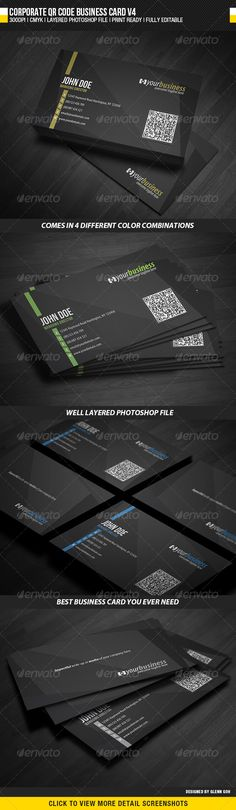 Initials clean simple business cards with qr code simple business initials clean simple business cards with qr code simple business cards business cards and qr codes colourmoves