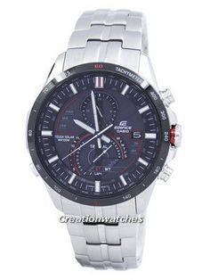 we are the lowest price watches supplier of Casio Edifice Active Racing Line Men's Watch it has Case/Bezel Material: Stainless steel, Stainless Steel Band, Solar Powered, Partial Ion Plated Seiko 5 Sports Automatic, Seiko Automatic, Casio Edifice, Sport Watches, Cool Watches, Watches For Men, Low Price Watches, Seiko 5 Military, Mens Designer Watches