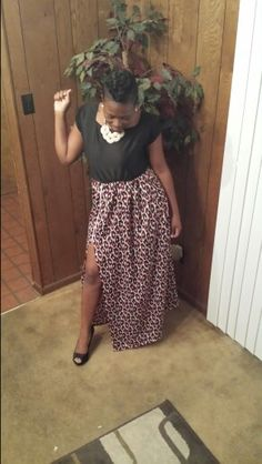 Zip split dress!