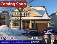 Photo: #COMINGSOON 2014 Newcarlisle Crescent in Notting Gate www.WeKnowOttawa.com/779 Price: $525,000.00 Contact the Hamre Real Estate Team to Book your Showing at 613-841-2111 Beautiful Tamarack 4 Bedroom w/Second Level Loft & Front Veranda, Large Center Island Kitchen w/Gas Cook-Top & Grill, Glider Pot Drawers, Built-In Wall Oven & Wall of Pantry, Family Room w/Vaulted Ceiling, Accented Gas Fireplace & Custom Wall Unit, Open Hardwood Staircase, Spacious Living & Dining Room, Separate Main…