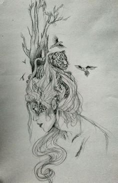 iremselkareler Turkish Art, Art Sketches, Art Drawings