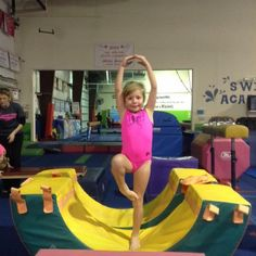 Working on balance in our Sparkling Stars class! #brightstarsgym #gymnastics #preschool gymnastics #balance #hardwork #activekids