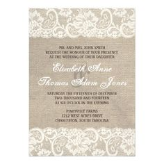 Lace Look Rustic Burlap Wedding Invitation online after you search a lot for where to buyDiscount Dealstoday easy to Shops & Purchase Online - transferred directly secure and trusted checkout...