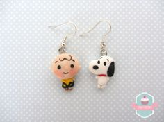 Orecchini Snoopy & Charlie Brown di CandyFactory7 su Etsy