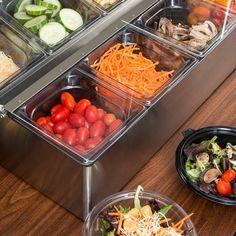 San Jamar FP9248FL EZ Chill Food Prep Center with 8 Pans