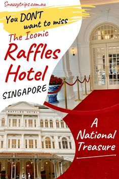 Don't miss visiting the iconic Raffles Hotel in Singapore and experiencing the old-world charm of this historic tourist attraction. Singapore Sling Cocktail, Hotel Foyer, Travel Destinations, Travel Tips, Travel Guides, Travel Plan, Travel Advice, Singapore Travel, Malaysia Travel