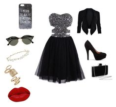 """Sans titre #2"" by lisagrandet-2 on Polyvore featuring Ray-Ban, Robert Rose, Topshop et Winky Lux"