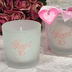 Sweet 16 birthday party candle favors