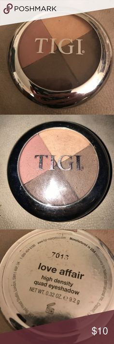 "TIGI ""LOVE AFFAIR"" SHADOW QUAD 0.32oz four shades quad called love affair brand new TIGI Makeup Eyeshadow"