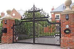 Ulysses. #WroughtIron #Iron #DrivewayGates #Metal #EsateGates #Drive #Garden #Bespoke #Custom #Designer #Modern #Vintage #Contemporary #Entrance #Sliding #Architecture #Privacy #Entry #Victorian #Outdoor #Traditional #Gates