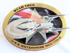 Amazing Star Trek Collectible!  #Star Trek #VintageStarTrek #3DPlate #enterprise #maidenvoyage #USSEnterprise #FirstContact #HamiltonCollection #ScifiCollectible #COA #Startrekfirstcontact #startrekmovie #rarestartrek @SewNSewSister https://etsy.me/2LImyBT via @Etsy