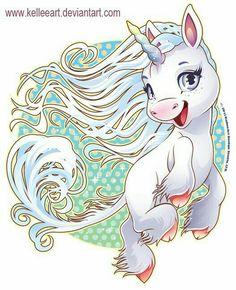 tierno y feliz unicornio