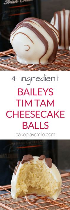 Rich, creamy and oh-so-delicious! These 4 ingredient, no-bake Baileys Tim TamCheesecake Balls are the perfect gift for family or friends�� or the yummiest little sneaky late night treat! #baileys #cheesecake #nobake #dessert #chocolate #boozy #thermomix #