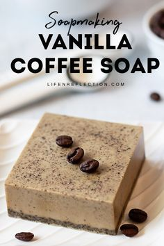 Easy Coffee Soap Recipe: Melt and Pour Soap for Beginners This coffee soap recipe is treat for your skin and your nose. It's great for all skin types and any coffee will work in this quick homemade soap. Soap Making Recipes, Homemade Soap Recipes, Homemade Soap Bars, Homemade Paint, Honey Soap, Shea Butter Soap, Diy Para A Casa, Diy Rose, Slush Puppy