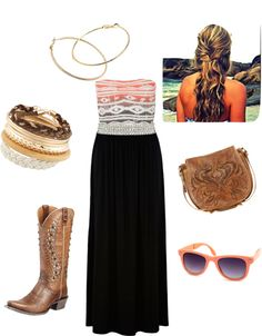 """Country Boho Chic"" by rssoftball on Polyvore"