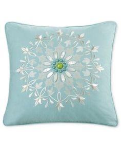 """Echo Sardinia 18"""" Square Decorative Pillow - Blue"""
