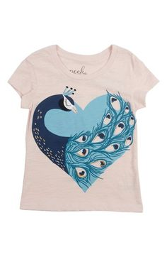 Peek 'Peacock' Graphic Tee (Toddler Girls, Little Girls & Big Girls) available at #Nordstrom