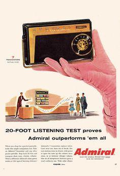 Vintage Admiral Radio Ad Retro Radio Ad Mid Century Poster Classic Electroni | eBay