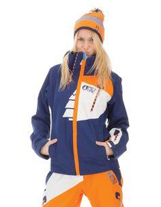Picture Organic Clothing Winter 2015 , Women's Snowboard/Ski Jacket, Feeling 2 Dark Blue Orange | f riders inc