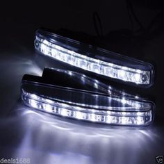 2PC 8 LED Daytime Driving Running Light DRL Car Fog Lamp Waterproof DC 12V White #UnbrandedGeneric