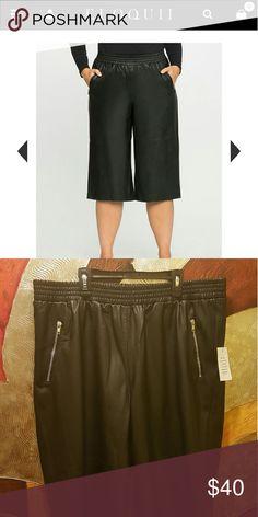 FLASH SALE Eloquii  leather Culottes NWOT Stylish leather cullottes Size 18 Eloquii Skirts