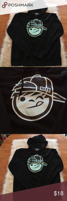 Neff hoodie! Super soft and comfortable neff hoodie! Worn a handful of times. In good condition! Still super soft. No fading of the decal or the black hoodie! Neff Shirts Sweatshirts & Hoodies