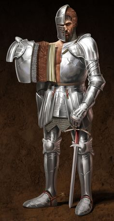 Medieval Knights on Behance Ancient Armor, Medieval Armor, Medieval Fantasy, Knight Drawing, Knight Art, Armadura Medieval, Armor Concept, Weapon Concept Art, Types Of Armor