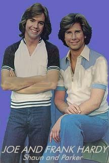 """70's Shaun Cassidy and Parker Stevenson  """"The Hardy Boys"""" - That's some awesome hair there boys!"""