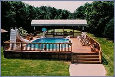 multi level above ground pool deck | Landscaping - Gardening Ideas