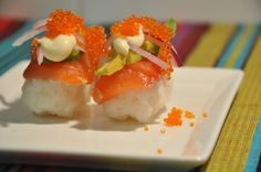 The Beans Blog: Salmon & Avocado Nigiri Sushi