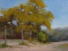"Daily Paintworks - ""Roadside Vista"" by Laurel Daniel  9*12"