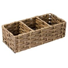 Pe Faux Rattan 3/Section Organizer Brown   At Home Affordable Storage, Plastic Baskets, Circle Design, At Home Store, Home Organization, Rattan, Brown, Home Decor, Wicker
