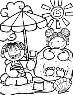 Summer Coloring Pages (+ writing papers) {Made by Creative Clips Clipart} FREE Summer Time Coloring Book {Made by Creative Clips Clipart} Unique Coloring Pages, Summer Coloring Pages, Coloring Book Pages, Coloring Pages For Kids, Coloring Sheets, Free Coloring, Free Summer, Summer Time, Creative Clips